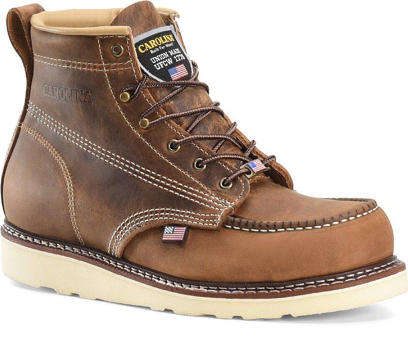 Men's 6 Steel Moc Toe Wedge Work Boot